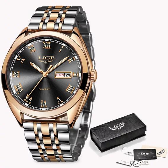 Relógio Feminino Premium Original De Luxo Lige
