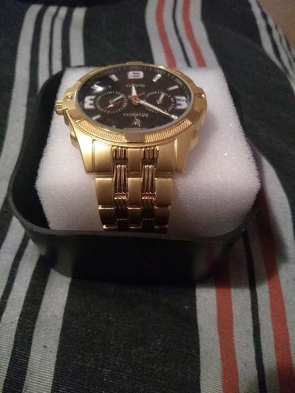 Relógio Potenzia Dourado E Um Prata