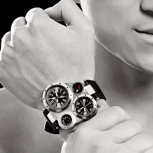 Relógio De Pulso Grande - Modelo Exercito - Com Bussola