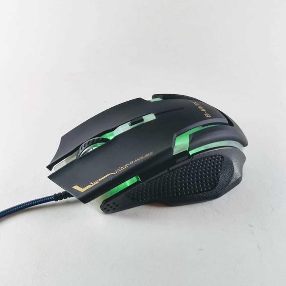 10 Mouse Gamer B-max A9 Usb Led Óptico 3200 Dpi 6 Botões T55