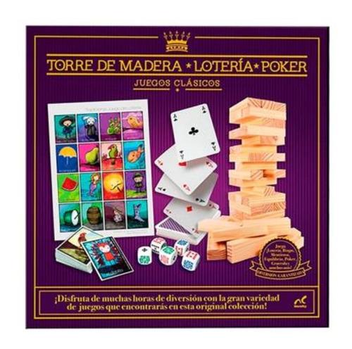 Juegos Clasicos Lotería Pocker Torre De Madera Bingo