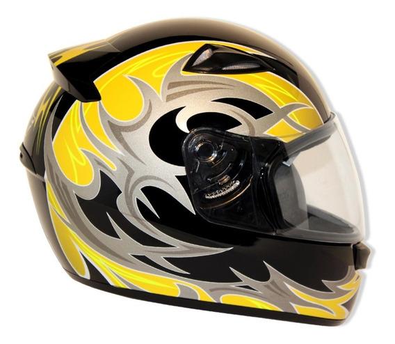 Capacete Moto Ebf New Spark Thor 56 Preto Amarelo