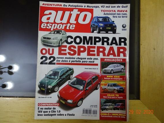 Revista Auto Esporte 440 Janeiro 2002 Clio Fiesta Bmw R439