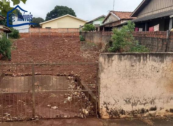Terreno À Venda, 425 M² Por R$ 90.000 - Centro - Bom Sucesso/pr - Te0080