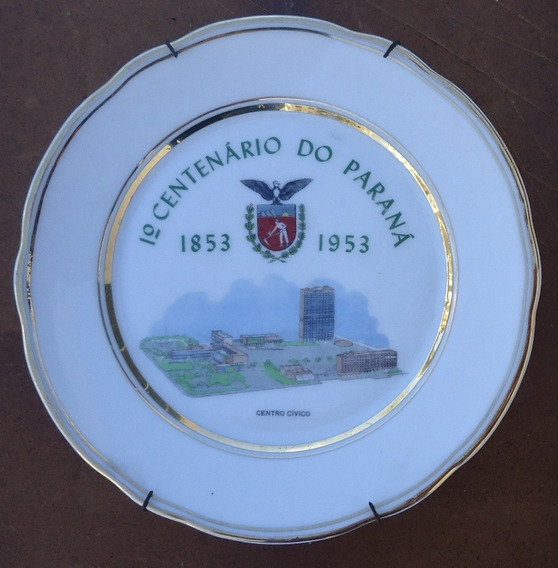 Prato 1 Centenário Do Paraná - 1853/1953/centro Cívico