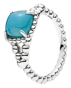 Anel Em Prata Macica 925 Espirito Vibrante Azul