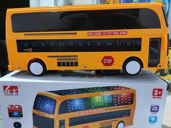 Ônibus Eletrônico Com Música E Led Citybus