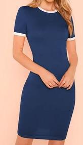 5746e9c41 Vestido Azul Rey Cortos Pegados - Vestidos en Mercado Libre México