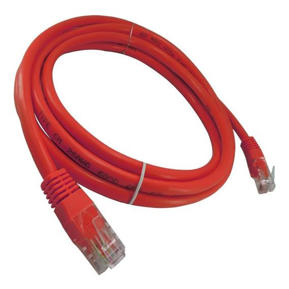 Patch Cord Categoria 6 Vermelho 2,5m Flexível Injetado Cat6