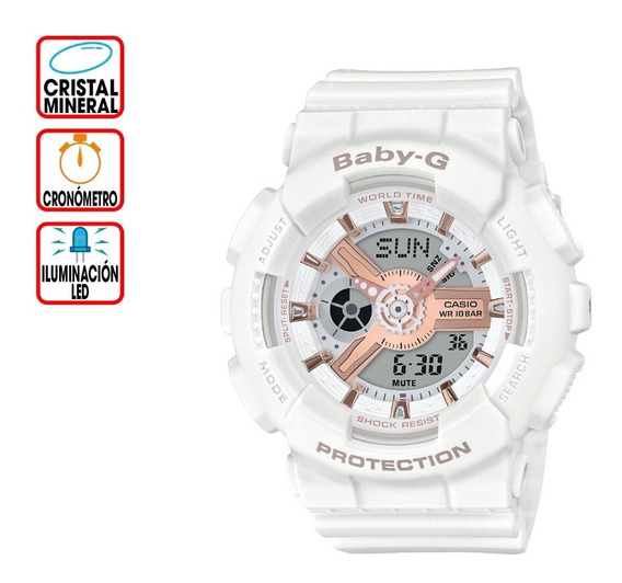 Reloj Casio Outlet Baby-g Life And Style Ba-110rg-7acr