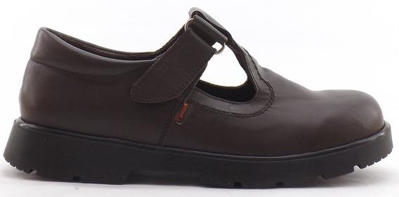 Zapatos Colegial Marcel Guillermina Abrojo Cuero 204 34-40