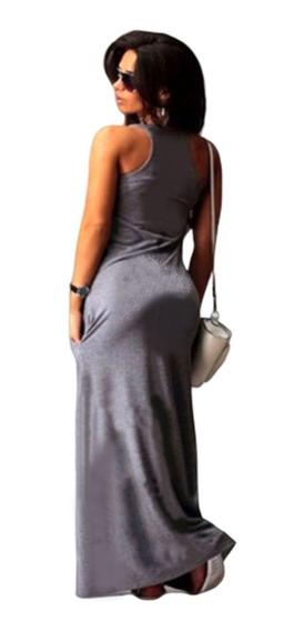 Vestidos Informales Largos Talles Grandes Con Bolsillos