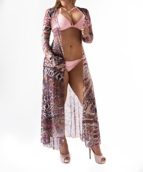 Vestido Salida Playa Pareo Bata Premium Vacaciones Coverup