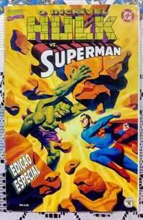 Revista Hulk Vs Superman - Autêntica - Excelente Estado