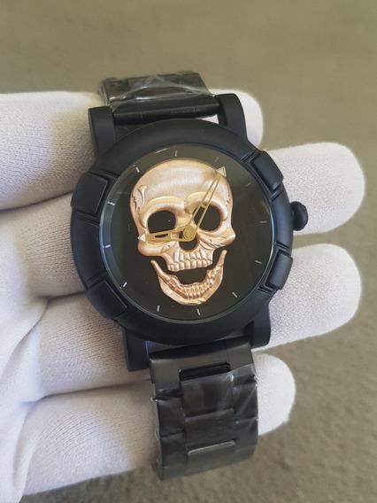 Relogio Skmei Caveira Skull Cranio Esqueleto Pronta Entrega