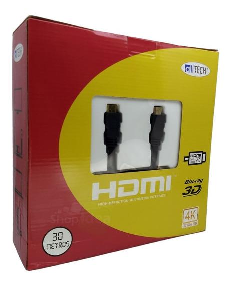 Cabo Hdmi 30m Blindado 2.0 Ethernet 30 Metros 4k 3d 2160p