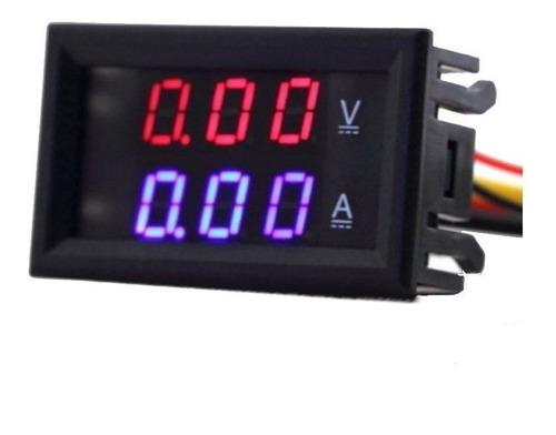 Voltimetro Amperimetro Digital Dc0-100v 10a Rojo-azul