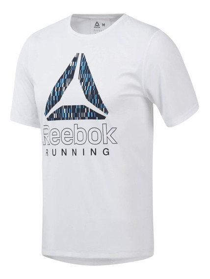 Reebok Remera M/c Running Hombre Graphic Blanco
