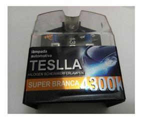 Kit Lâmpada Super Branca H1/100w Teslla Efeito Xenon 4300k