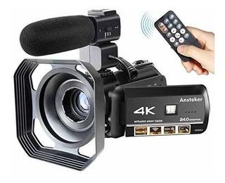 Video Cámara Videocámara Ansteker 4k Ultrahd Recorder 24mp