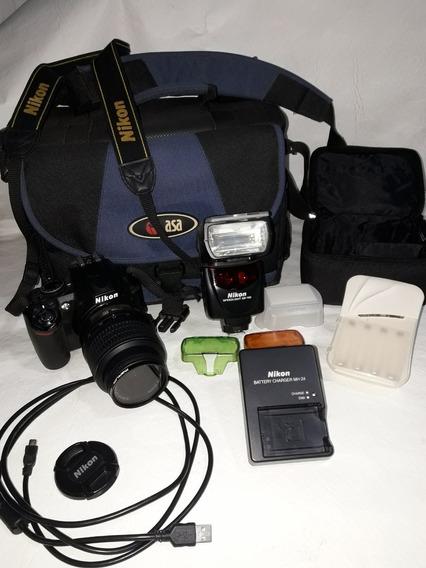 Nikon D3100 Flash Sb700 Bolso Cargadores Filtros Cable Cajas