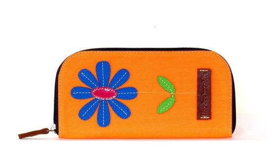 Monederos Dama Flor De Chocolate Gerbera Naranja