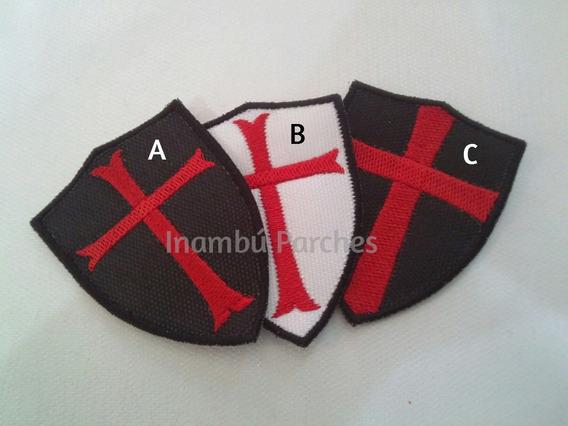 3 Parches Bordados Cruzados Templarios