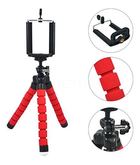 Tripé Celular Flexível Selfie Câmeras/gopro Vermelho