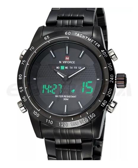 Kit 10 Relógio De Pulso Masculino Esportivo Naviforce 9024