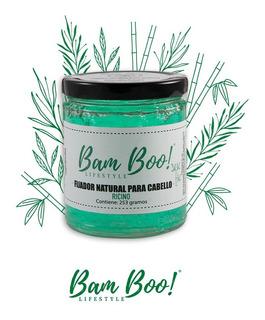 Gel Fijador Natural Para Cabello De Ricino 253 Gr Bam Boo!