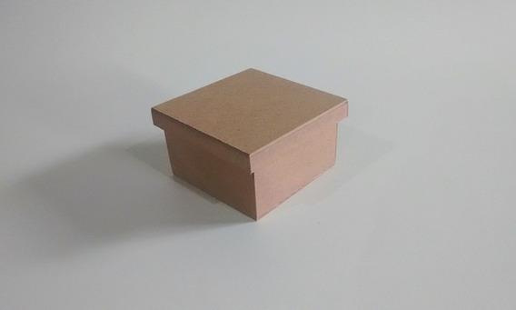 Kit Com 100 Caixas 10x10x6 De Mdf-lembrancinhas Casamento