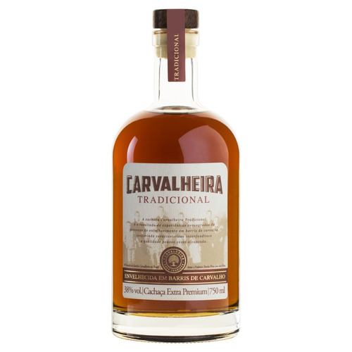 Cachaça Tradicional Carvalheira Garrafa 750ml