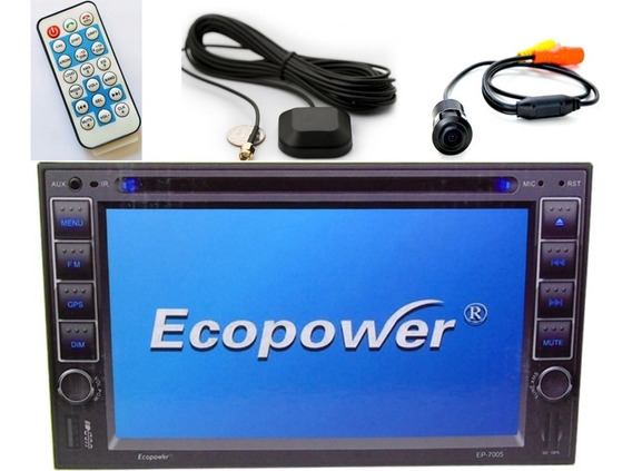 Dvd Player Ecopower Ep-7005 - 6.2 Polegadas - Gps -bluetooth