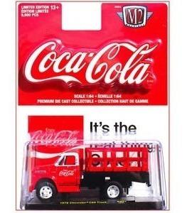 Miniatura Caminhão Coca Cola Chevrolet C60 1970 M2 Machines
