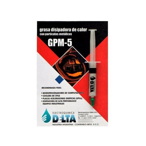 Imagen 1 de 5 de Grasa Disipadora Calor Con Particulas Metalicas Delta Gpm-5