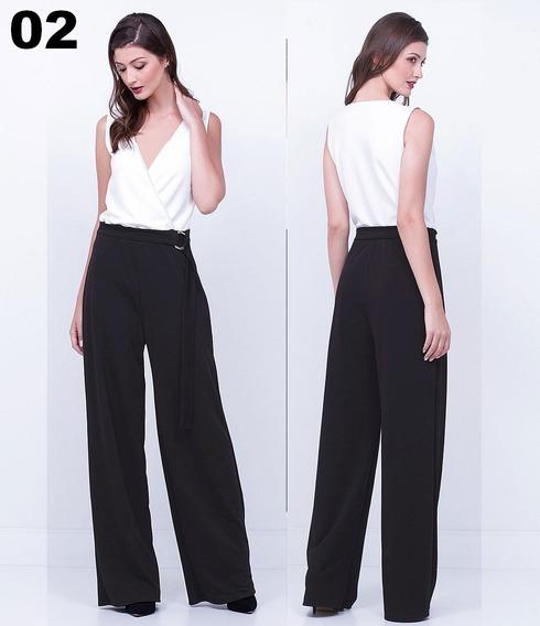 Macacão Pantalona C/ Fivela Festa Lindo Lindos Modelos