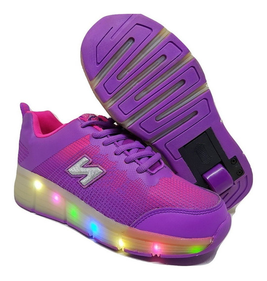 Zapatillas Con Rueda Y Luces Led Varios Colores Niñas/nenas