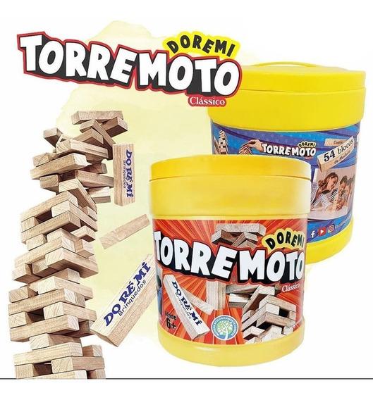 Jogo Torre Equilíbrio Brinquedo Madeira Estilo Jenga Doremi