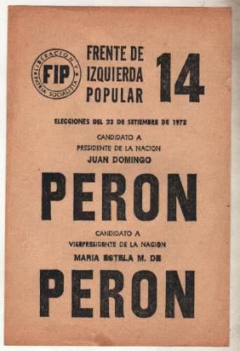 Voto Peron Peron Fip 1973