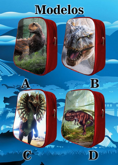 60 Mochilas Dulceros Dinosaurios, Jurasic World Recuerdos