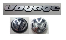 Kit Emblema Volkswagen Voyage Logo Vw Grade E Mala 90 À 97