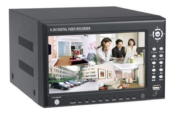 Kit Dvr Monitor E 4 Câmeras Cabos Com Acesso Internet
