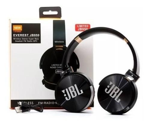 Kit 2 Fone Jb 950 Bluetooth Sem Fio Mp3-fm Preto E Branco