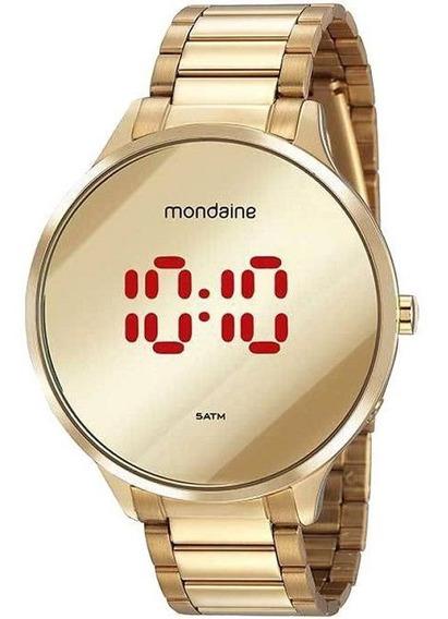 Relógio Feminino Mondaine Digital Slim Dourado 32060lpmvde1