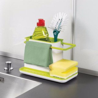 Organizador De Cocina Porta Esponja Cepillo Detergente Paño