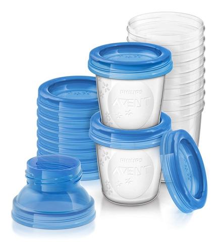 Set Vasos Almacenamiento Leche Materna Reutilizables Avent