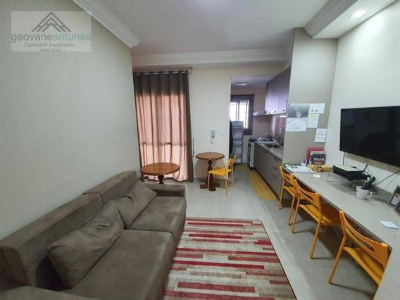 Apartamento Com 1 Dormitório, 52 M² - Venda Por R$ 400.000,00 Ou Aluguel Por R$ 2.500,00/mês - Parque Campolim - Sorocaba/sp - Ap0334