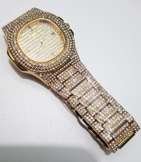 Relógio Cravejado Ice Hip Hop Funk