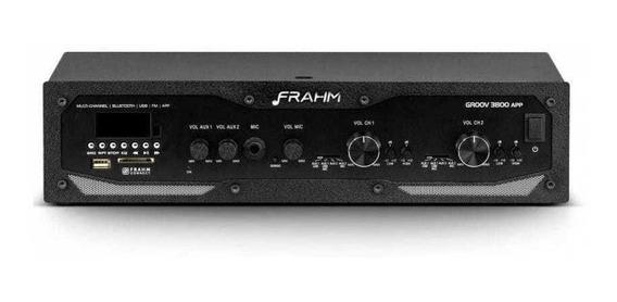 Amplificador Receiver Gr 3800 App Frahm Bluetooth Usb