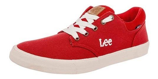 Tenis Lee A-64 Rojo Tallas De #22 A #27 Mujer